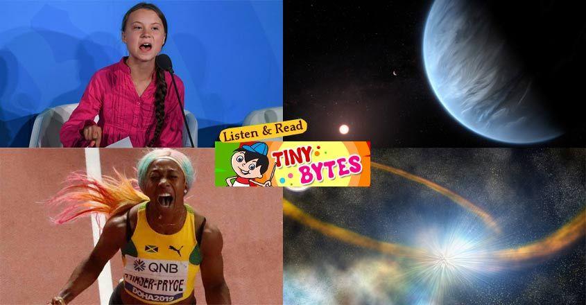 Tiny Bytes: Greta Thunberg berates world leaders, Fraser-Pryce wins fourth world gold and more