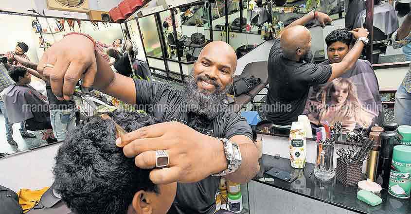 Thrissur hair stylist Ajeesh