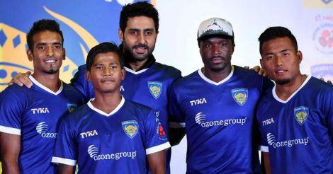 Abhishek Bachchan launches Chennaiyin FC jersey
