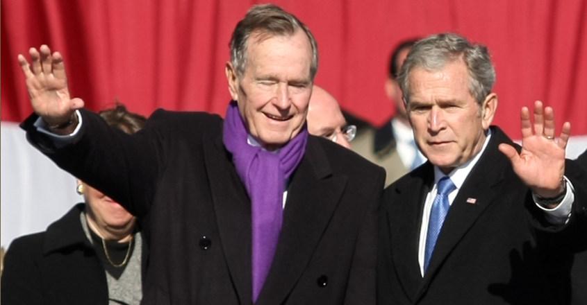 Bush with son George Bush Junior
