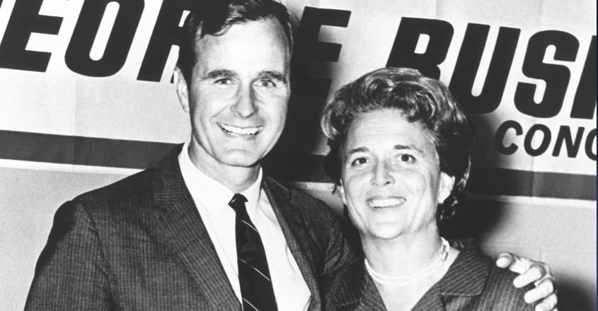 George Bush with wife Barbara