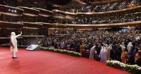 Narendra Modi in his  West Asia visit