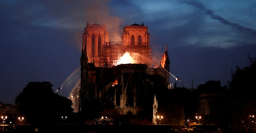 Massive fire at historic Notre-Dame cathedral in Paris