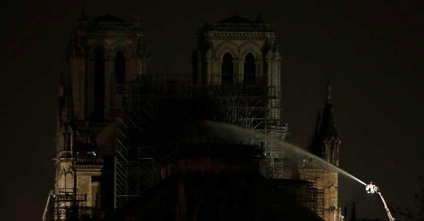 Fire guts Notre-Dame Cathedral in Paris, Macron pledges to rebuild