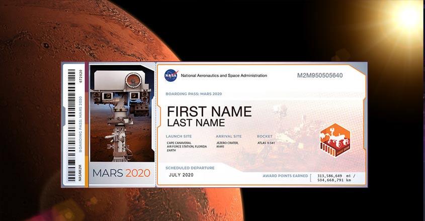 Your name may soon reach as far as Mars on NASA rover