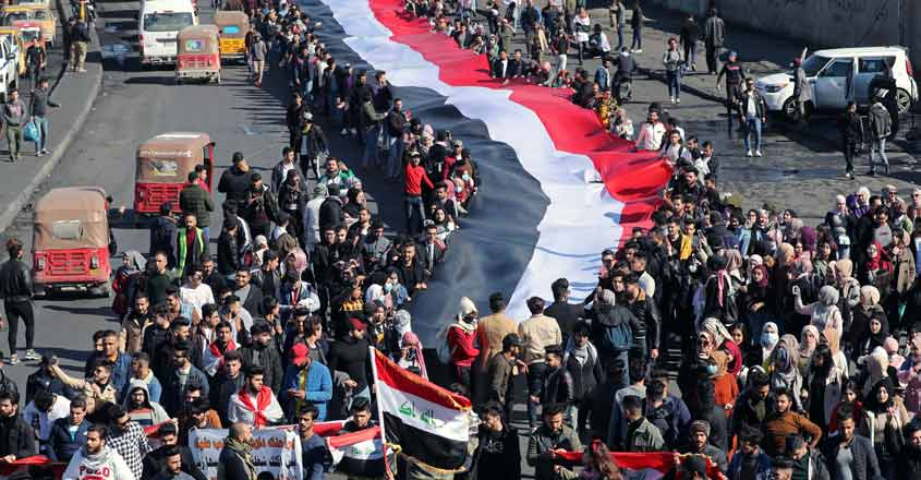 Iraqi security forces kill protester, rockets hit US embassy