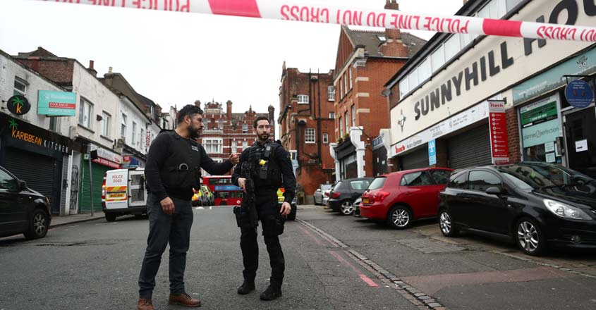 Man stabs several people in London, shot dead by police