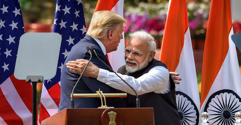Trump returns after 36-hour India tour, White House lauds deepening partnership