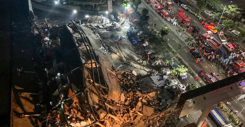 Around 70 trapped as hotel used for quarantine collapses in China