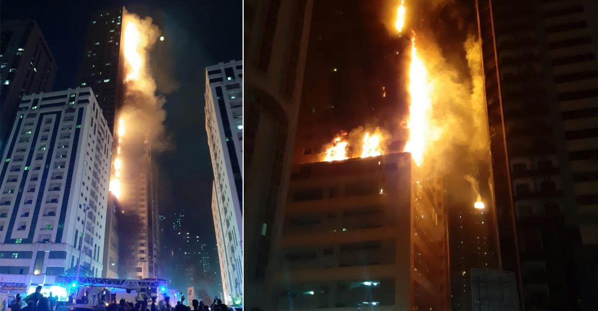 Massive fire at residential tower in Sharjah's Al Nahda, seven injured | World News | Manorama