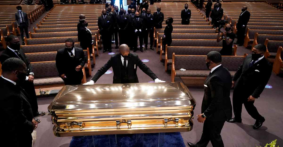 George Floyd laid to rest after funeral service in Houston
