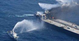 Fire-hit supertanker owner to pay $1.8 million for Sri Lanka's help