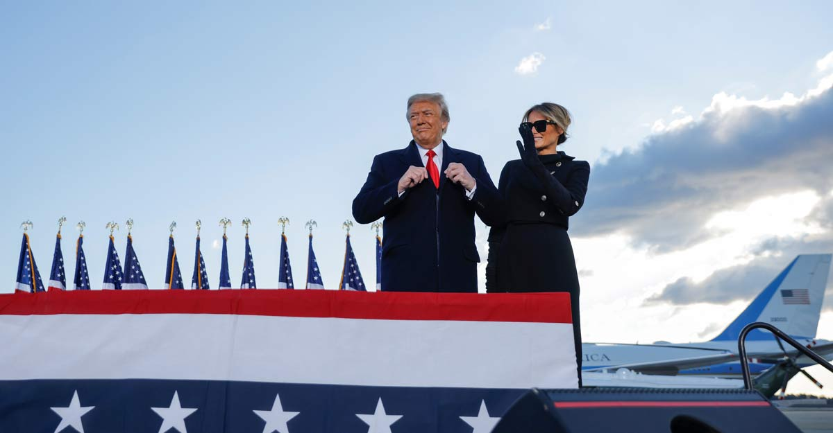 Trump exits after four turbulent years, his presidency in tatters