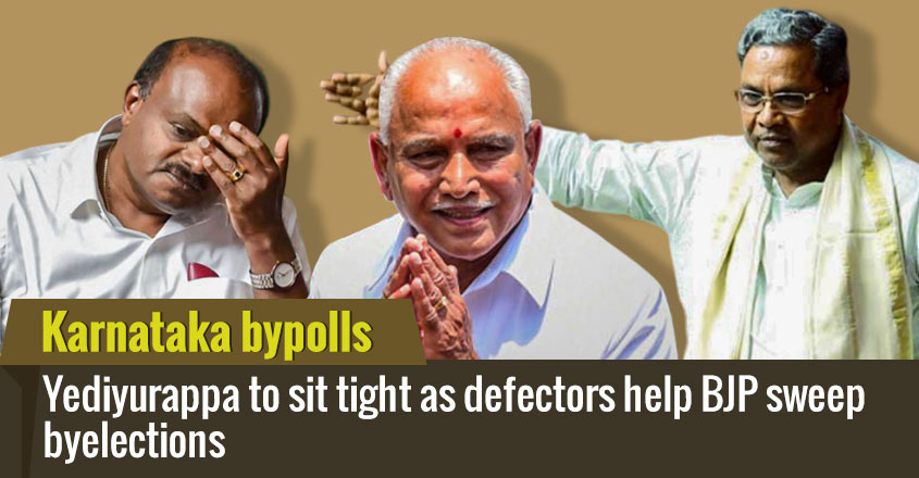 Karnataka bypoll: Yediyurappa to sit tight as defectors help BJP sweep byelections