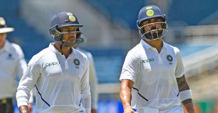 Kohli, Agarwal help India take edge over Windes on Day 1