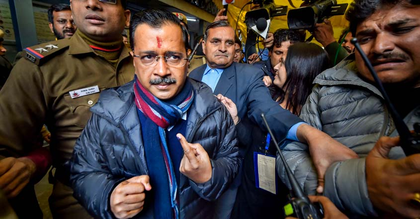 What helped Kejriwal score a hat-trick in Delhi?
