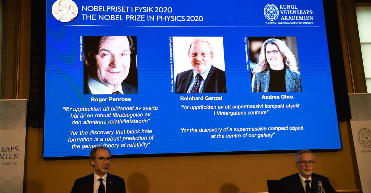 Trio of scientists share Nobel physics prize for discoveries on black holes