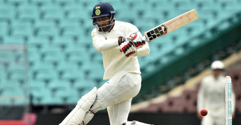 Vihari, Pujara stand tall as rest flop on opening day of tour game