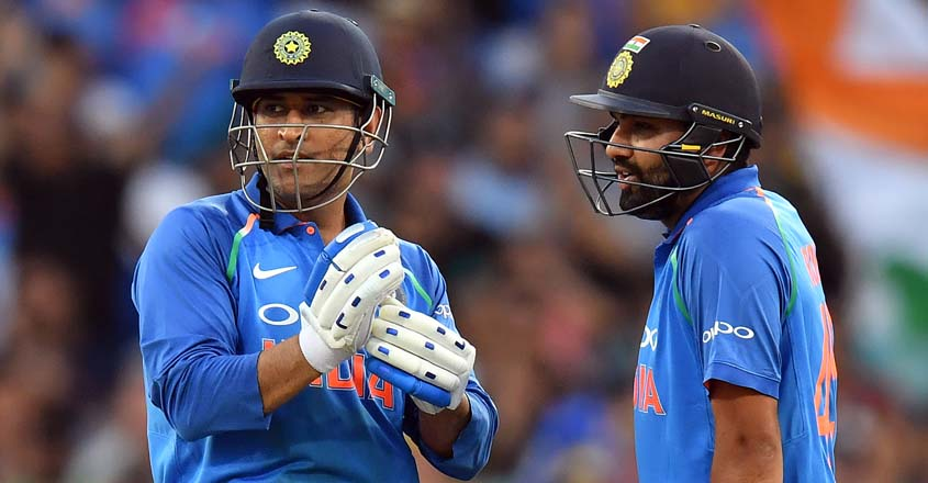 Rohit says 'ideal' number four is Dhoni, differs with Kohli