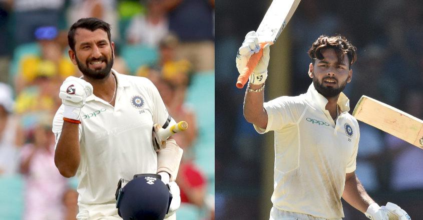 Cheteshwar Pujara and Rishabh Pant (AFP)