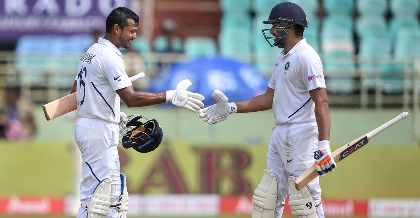 Rohit, Agarwal in elite 300-run club