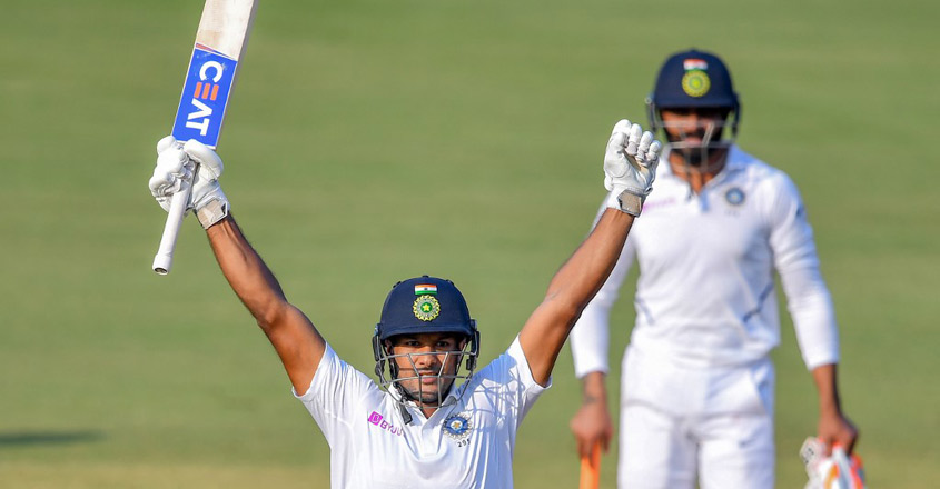 Indore Test: Agarwal slams double ton as India gain huge lead