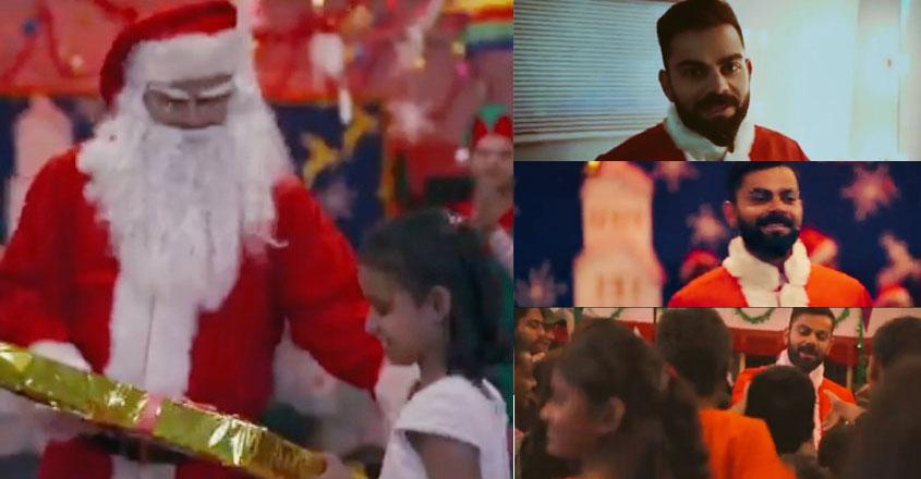 'Santa' Kohli surprises Kolkata shelter homes kids, distribute gifts