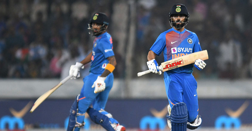 Hyderabad T20I: Virat Kohli powers India to 6-wicket win against Windies