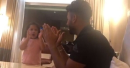 Ziva Dhoni gives Hindi lessons to Rishabh Pant | Video