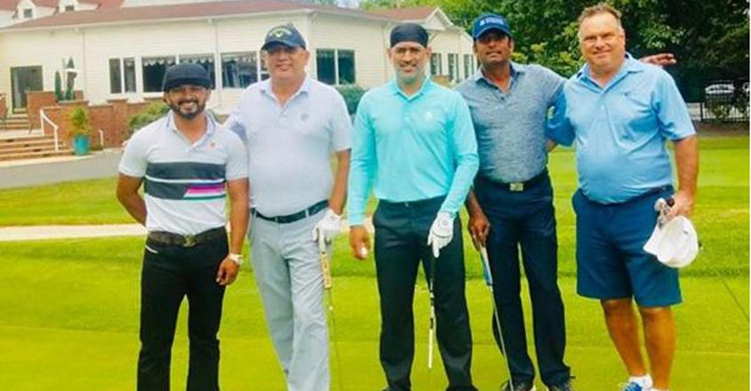 Dhoni enjoys golf with Jadhav in the US