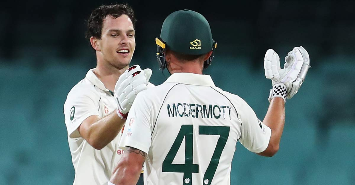 McDermott, Wildermuth thwart India's victory bid