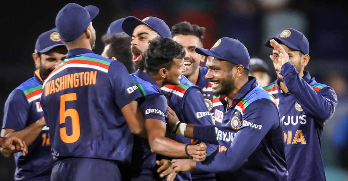 #AUSvIND   Men in Blue snatch thrilling win in first T20I