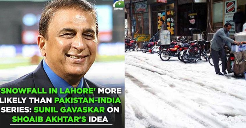 We did have snowfall in Lahore last year: Akhtar replies to Gavaskar