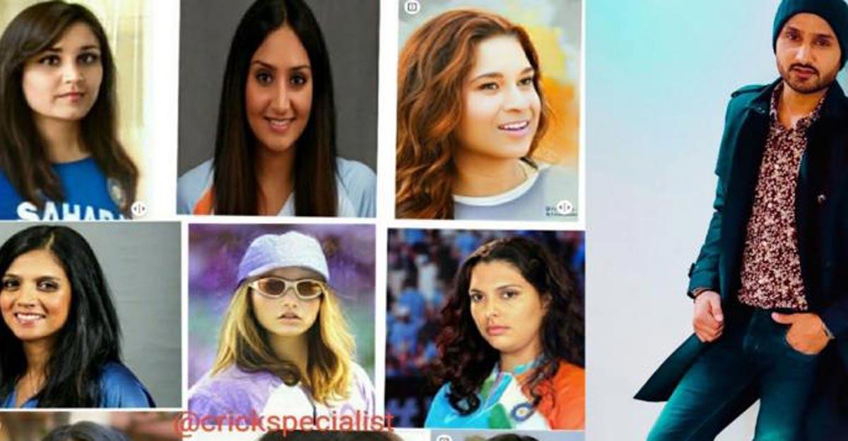 Harbhajan shares morphed images of Indian cricket legends