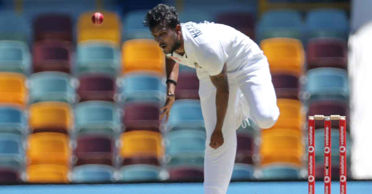 Natarajan walks into record books on Test debut