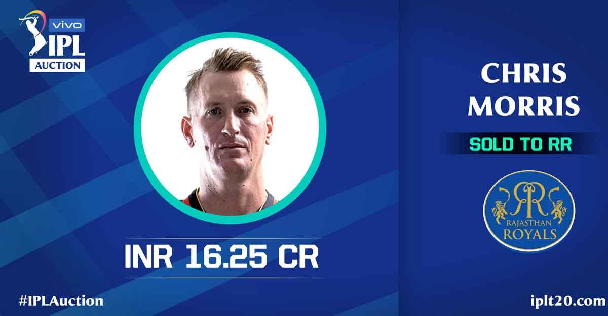 IPL auction: Chris Morris becomes biggest ever buy