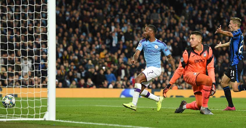 Sizzling Sterling hits hat-trick as Man City thump Atalanta in Champions League encounter