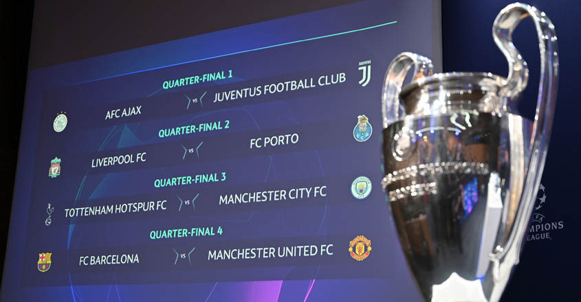 Here is the Champions League quarterfinals draw