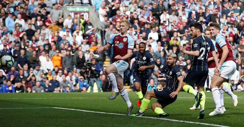 Aguero strikes as Man City hold firm for win at Burnley