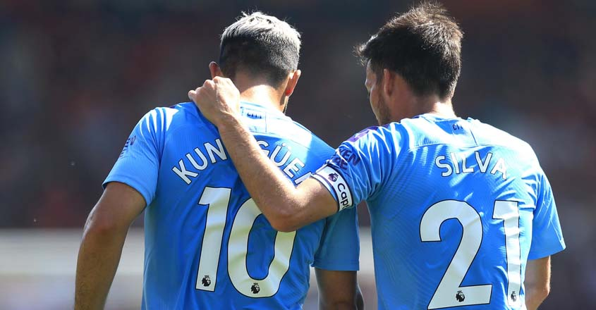 EPL: Silva sparkles as Aguero double fires Man City