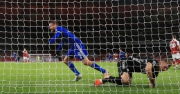 Vardy secures Leicester first win at Arsenal in 47 years
