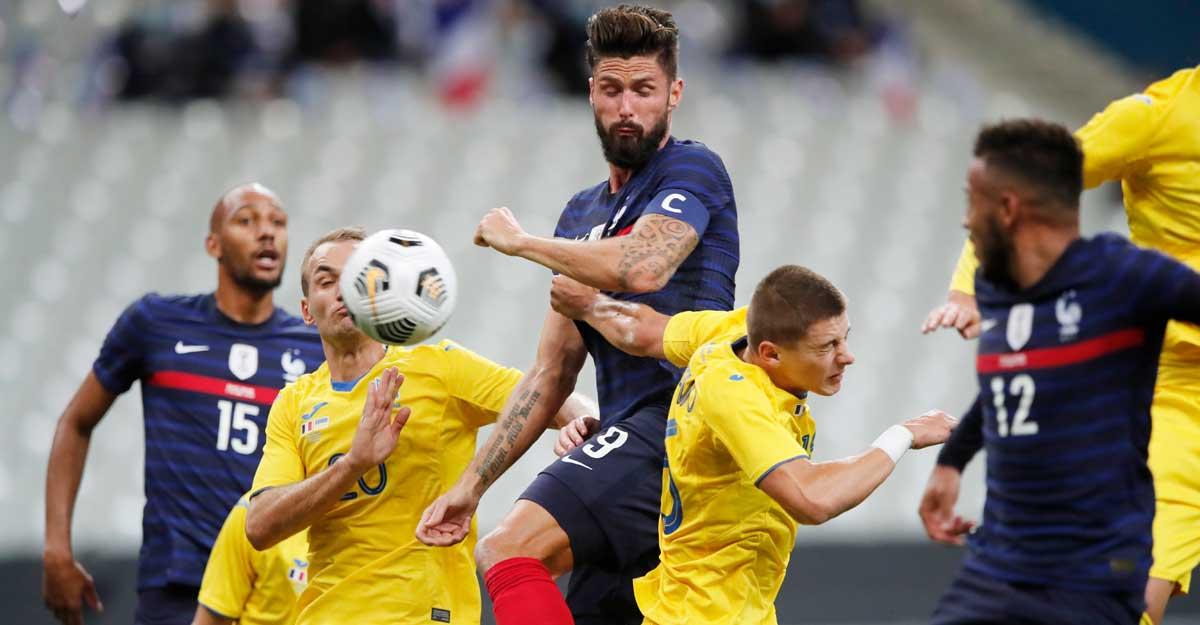 Giroud becomes France's second top scorer in big win over Ukraine