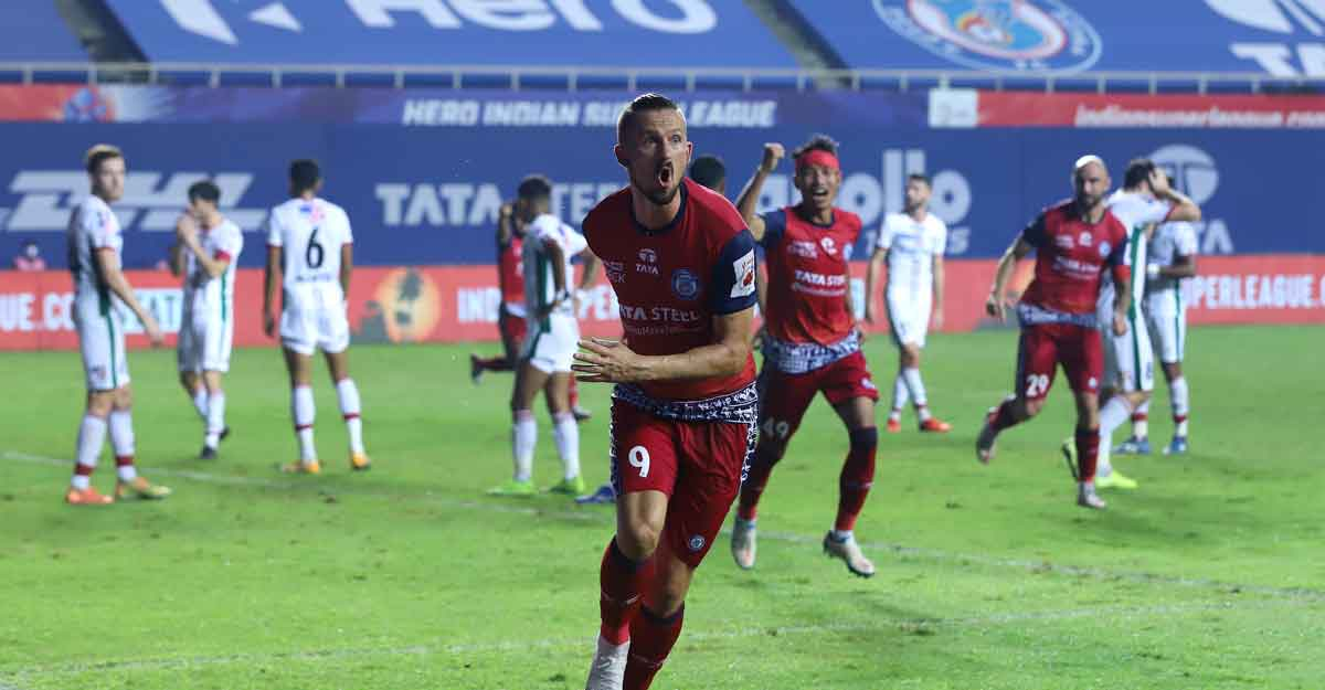 Jamshedpur striker Valskis' brace sinks ATK Mohun Bagan