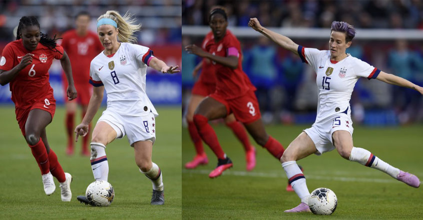 Rapinoe, Ertz among nominees for BBC women's player of the year