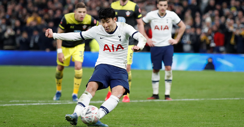 Son powers Tottenham through to FA Cup fifth round
