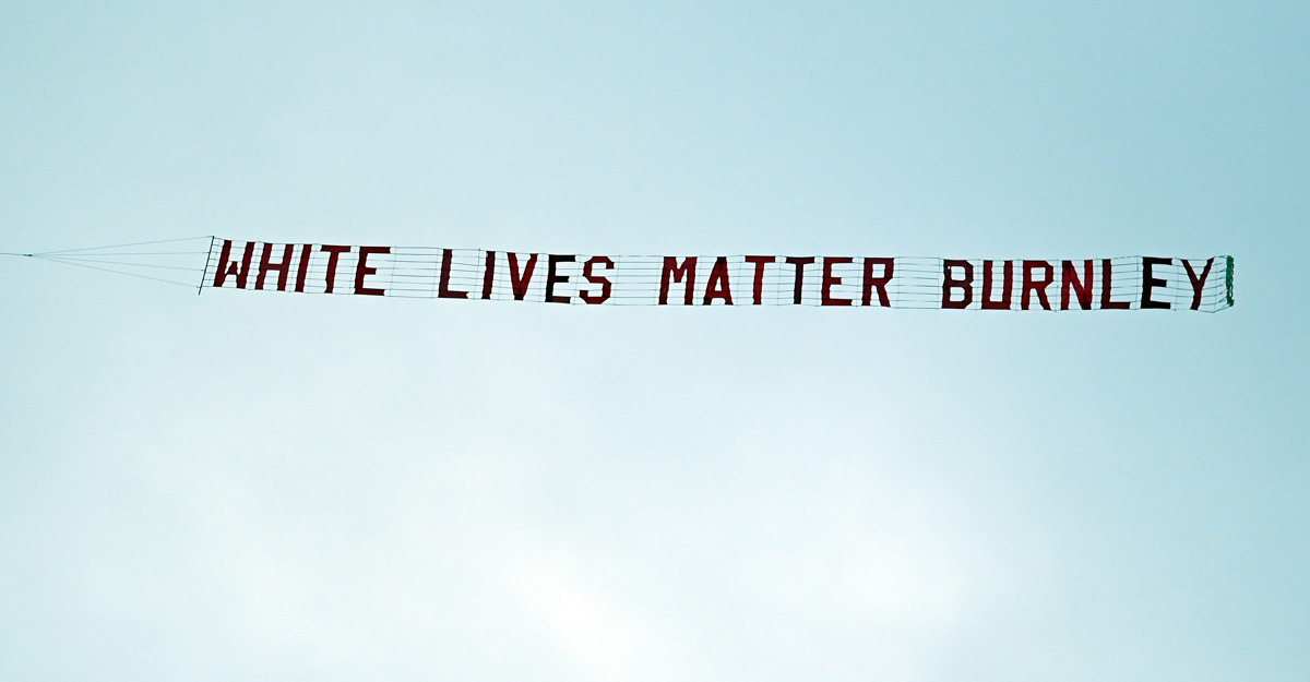 Burnley condemn 'White Lives Matter' flyover banner