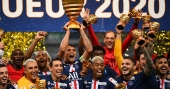 PSG clinch French League Cup to complete treble