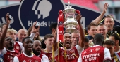 Aubameyang brace fires Arsenal to FA Cup title