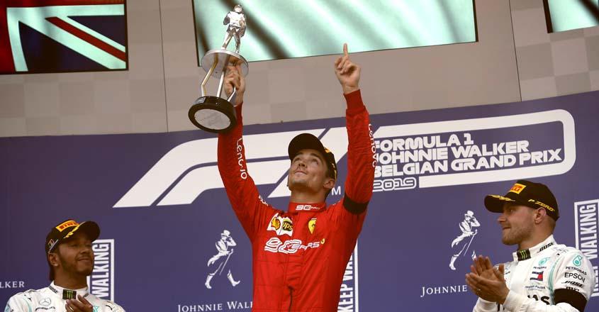 Ferrari's Leclerc claims first F1 win in Belgium