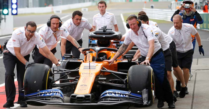 Formula One joins Britain's coronavirus battle